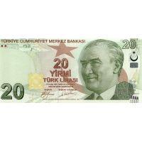 Банкнота Турция 20 лир 2009