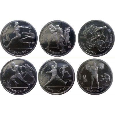 Копия набора монет 1 рубль 1991 Барселона