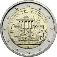 Ватикан 2 евро 2014 25 лет падения Берлинской стены (буклет)