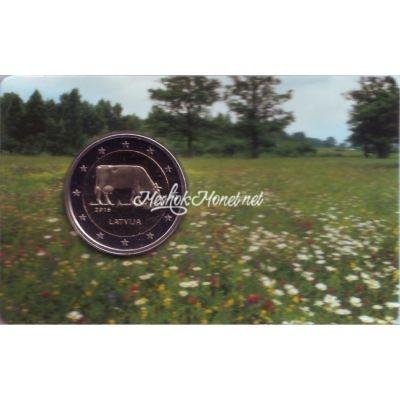 Латвия 2 евро 2016 Корова (в буклете)