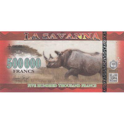 Банкнота Саванна 500000 франков 2016