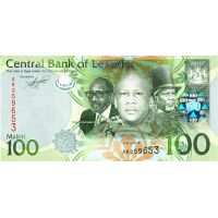 Банкнота Лесото 100 малоти 2010