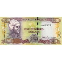 Банкнота Ямайка 500 долларов 2008