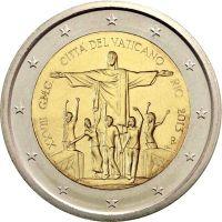 Ватикан 2 евро 2013 XXVIII День молодежи в Рио-де-Жанейро (буклет)