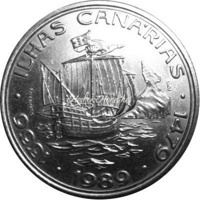 Португалия 100 эскудо 1989 Золотой век открытий - Открытие Канарских островов