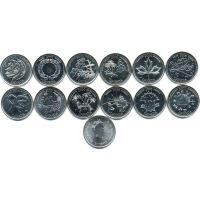 Канада набор монет 25 центов 2000 Миллениум