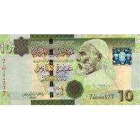 Банкнота Ливия 10 динар 2009