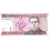 Банкнота Литва 20 лит 2007