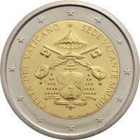 Ватикан 2 евро 2013 Вакантный престол (буклет)