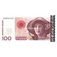 Банкнота Норвегия 100 крон 2010