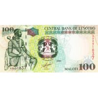 Банкнота Лесото 100 малоти 2009