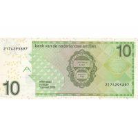 Банкнота Нидерландские Антиллы 10 гульденов 2014