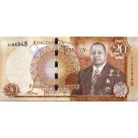 Банкнота Тонга 20 паанга 2015