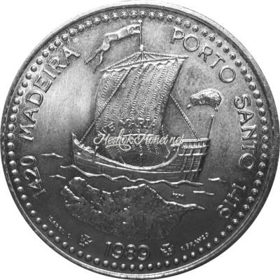 Португалия 100 эскудо 1989 Золотой век открытий - Открытие острова Мадейра