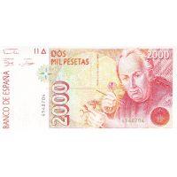Банкнота Испания 2000 песет 1992