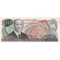 Банкнота Коста-Рика 100 колон 1988
