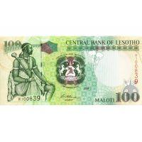 Банкнота Лесото 100 малоти 2006