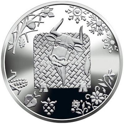 Украина 5 гривен 2020 Год быка