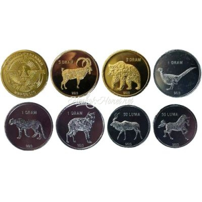 Нагорный Карабах набор разменных монет образца 2013