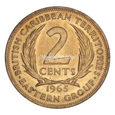 Восточные Карибы 2 цента 1965