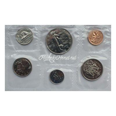 Канада Официальный годовой набор монет 1978  (6 монет в запайке)