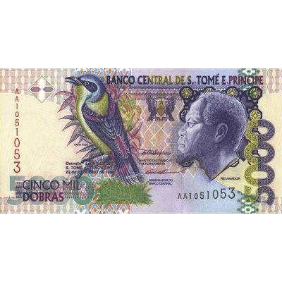 Банкнота Сан-Томе и Принсипи 5000 добра 1996