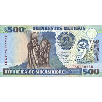 Банкнота Мозамбик 500 метикал 1991