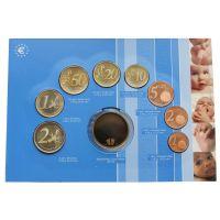 Нидерланды Годовой набор монет ЕВРО 2005 Рождение ребёнка (8 штук и жетон)