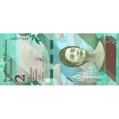 Банкнота Венесуэла 2 боливара 2018