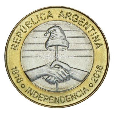 Аргентина 2 песо 2016 200 лет Независимости