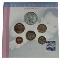 Норвегия Годовой набор монет 2003 Детская серия (5 штук и жетон)