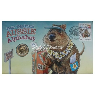 Австралия 1 доллар 2016 Буква Q (Английский алфавит)