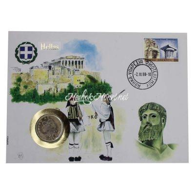 Греция 10 драхм 1986 (В буклете)