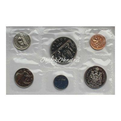 Канада Официальный годовой набор монет 1979  (6 монет в запайке)