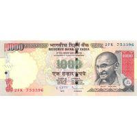 Банкнота Индия 1000 рупий 2014