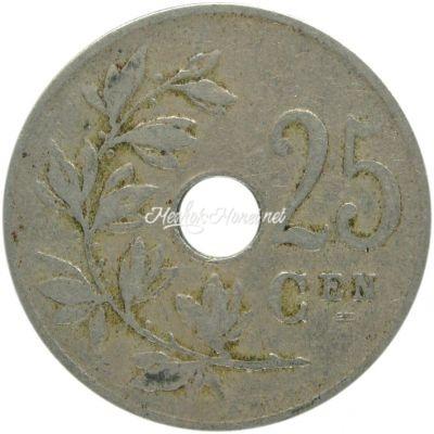 Бельгия 25 сентим 1910