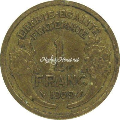 Франция 1 франк 1939
