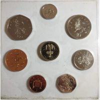 Набор монет Великобритании (8 монет) годовой 1990 г