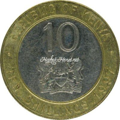 Кения 10 шиллингов 1997