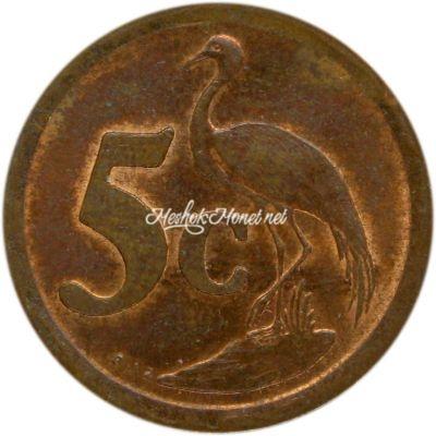 ЮАР 5 центов 1991