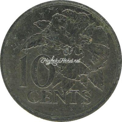 Тринидад и Тобаго 10 центов 1980