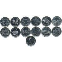 Канада 25 центов 1999 набор Миллениум