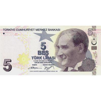 Банкнота Турция 5 лир 2009