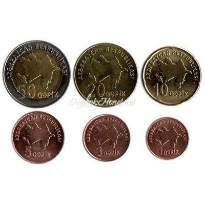 Азербайджан набор разменных монет образца 2006