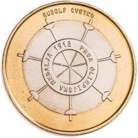 Словения 3 евро 2012 Первая олимпийская медаль