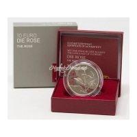 Австрия 10 евро 2021 Роза серебро