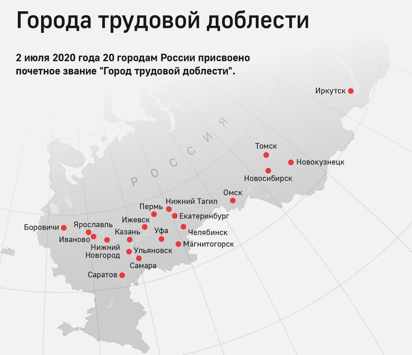 Монеты 10 рублей «Города трудовой доблести»
